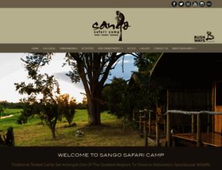sangosafaricamp.com screenshot