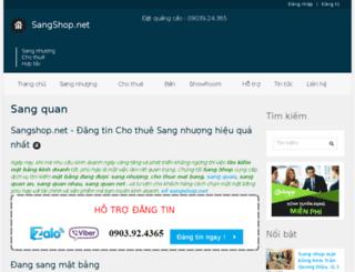 sangshop.net screenshot