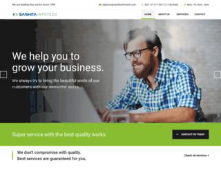 sanhitainfotech.com screenshot