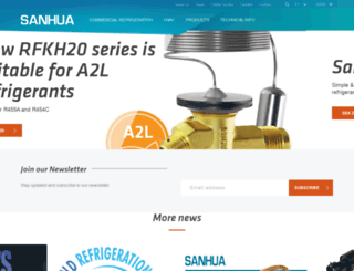 sanhuaeurope.com screenshot