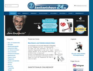 sanitaetshaus-24.de screenshot