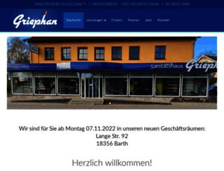 sanitaetshaus-griephan.de screenshot