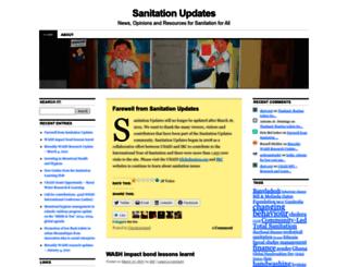sanitationupdates.wordpress.com screenshot