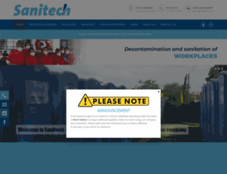 sanitech.co.za screenshot