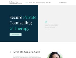 sanjanasaraf.com screenshot