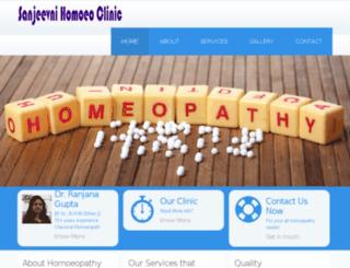 sanjeevnihomoeoclinic.com screenshot