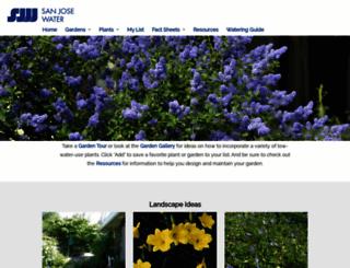 sanjose.watersavingplants.com screenshot