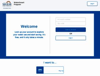 sanjose.watersmart.com screenshot
