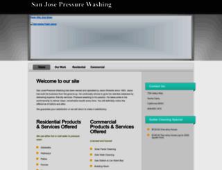 sanjosepressurewashing.com screenshot