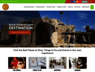 sanjuancapistrano.com screenshot