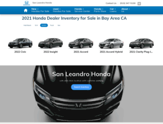 sanleandrohonda.com screenshot