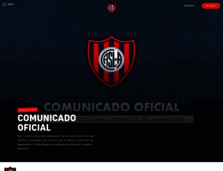 sanlorenzo.com.ar screenshot
