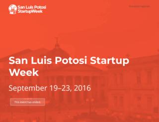 sanluispotosi.startupweek.co screenshot