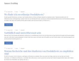 sannes-testblog.de screenshot