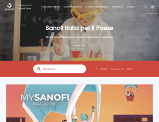 sanofi.it screenshot