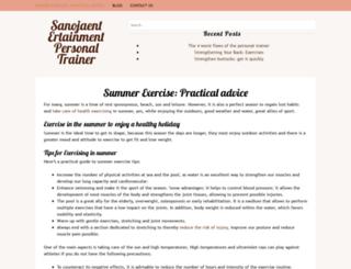 sanojaentertainment.com screenshot