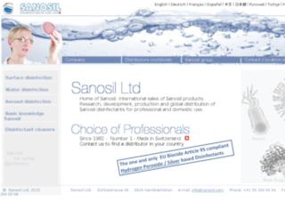 sanosil.com screenshot