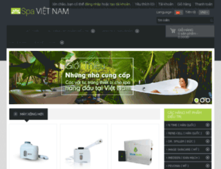 sanpham.spavietnam.com screenshot