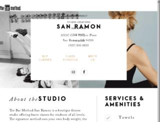 sanramon.barmethod.com screenshot