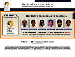 sanskaarvalley.org screenshot