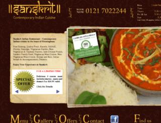 sanskritrestaurant.co.uk screenshot