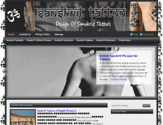 sanskrittattoo.info screenshot