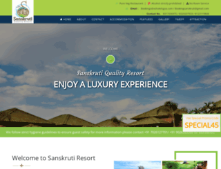 sanskrutiresort.com screenshot