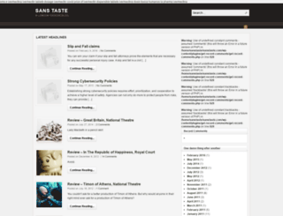 sanstaste.com screenshot