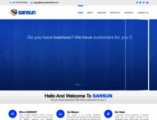 sansunwebsolutions.com screenshot