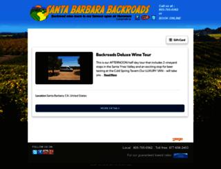 santabarbarabackroads.rezgo.com screenshot