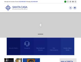 santacasademaceio.com.br screenshot