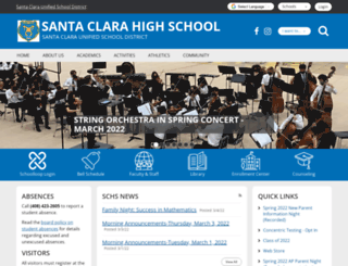 santaclara.schoolloop.com screenshot