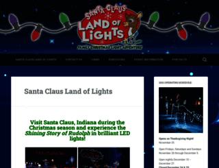 santaclauslandoflights.com screenshot