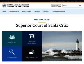 santacruzcourt.org screenshot