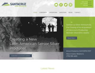 santacruzsilver.com screenshot