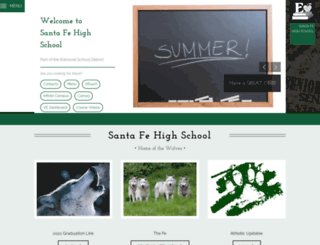 santafe.edmondschools.net screenshot