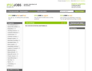 santafear.ipsojobs.com screenshot