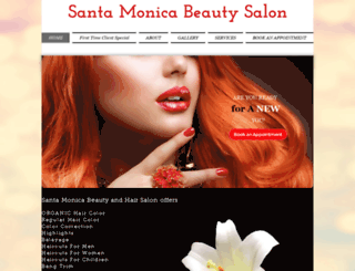 santamonicabeautysalon.com screenshot