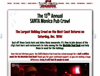 santamonicapubcrawl.com screenshot