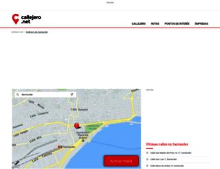 santander.callejero.net screenshot
