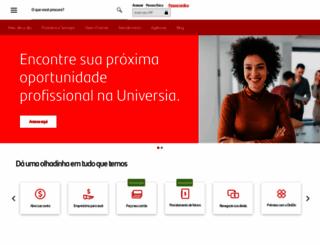 santander.com.br screenshot
