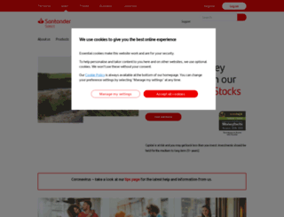 santanderselect.co.uk screenshot
