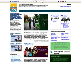 santarosa.floridahealth.gov screenshot
