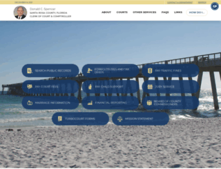 santarosaclerk.com screenshot