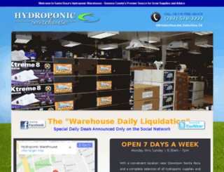 santarosahydroponicwarehouse.com screenshot