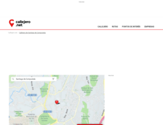 santiago-de-compostela.callejero.net screenshot