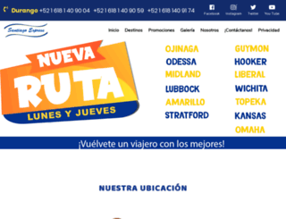 santiagoexpress.mx screenshot