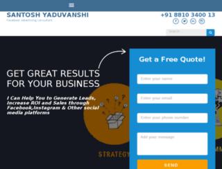santoshyaduvanshi.com screenshot