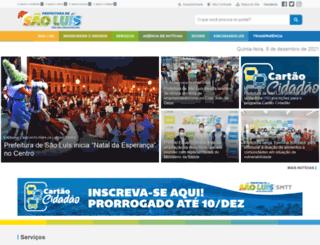 saoluis.ma.gov.br screenshot