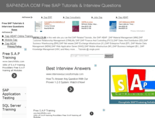 sap4india.com screenshot
